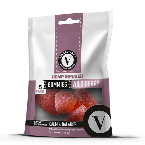 Veritas Farms - CBD Edible - Wild Berry Gummies - 9mg
